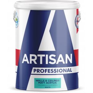 ARTISAN TRADE WALLS & CEILINGS MATT ACRYLIC WHITE